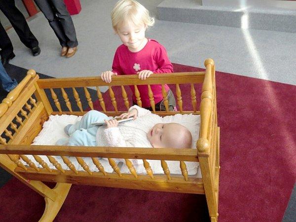 Vojtěch Honeš se se svými rodiči zúčastnil slavnostního přivítání vJeseníku nad Odrou.