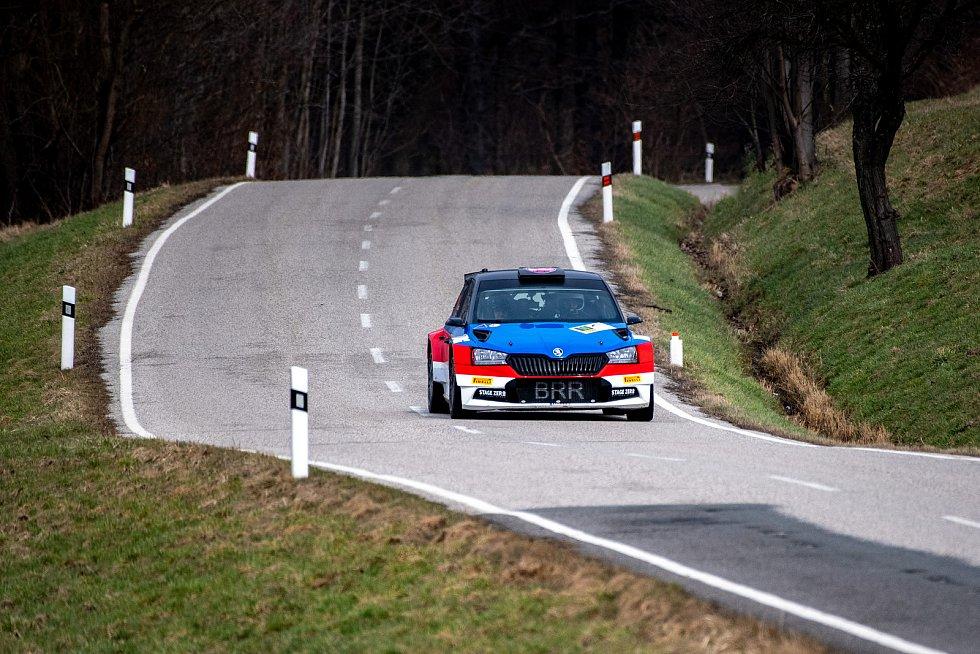 KOWAX Valašská Rally ValMez 2021. RZ 1, 3 Hukvaldy. 27. března 2021.