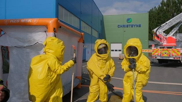 Zásah u chemické reakce v Odrách