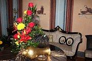 Výstava Růže pro paní hraběnku na zámku v Kuníně.