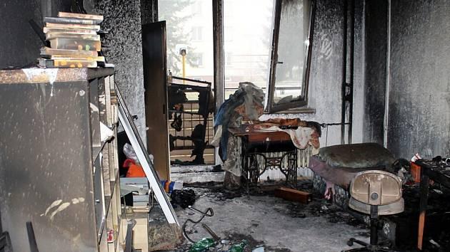 Požár v domově seniorů v Kopřivnici.