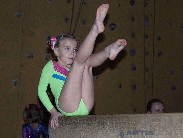 Šest desítek mladých sportovních gymnastek se utkalo v Kopřivnici na Vánoční prskavce 2007.