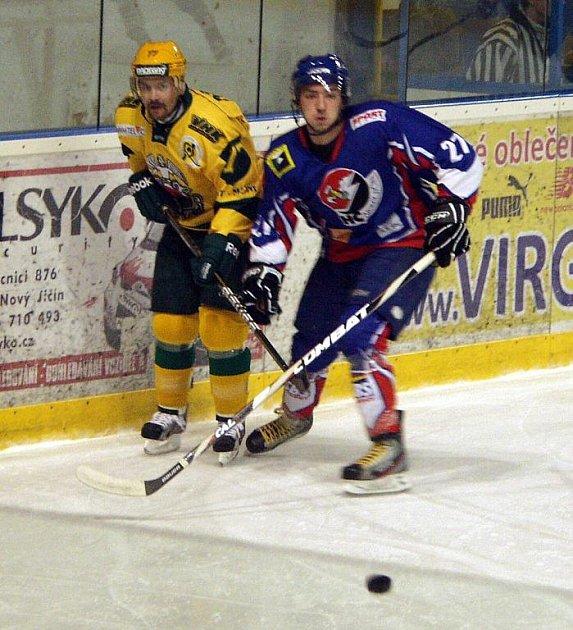 Hokejisté Nového Jičína prohráli se Vsetínem na samostatné nájezdy.
