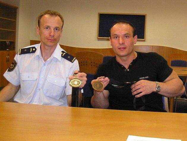 Na světových hrách vybojovalTomáš Melčák (vlevo) dva cenné kovy.