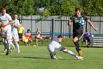 Fotbalový zabiják z Frenštátu, tohle přirovnání sedí přesně na útočníka SK Beskyd Pavla Klimpara. Foto: Deník