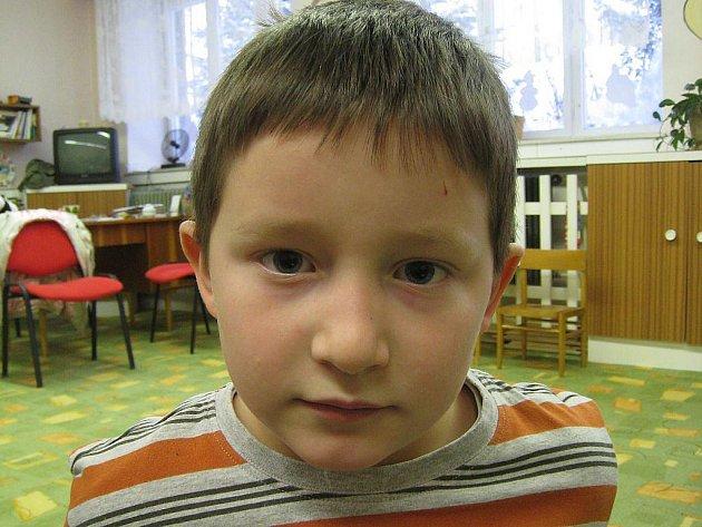 Tomáš Borůvka, 6 let, Bílov: Těším se. Rád cvičím, povídáme si a hraju si s Vítkem.