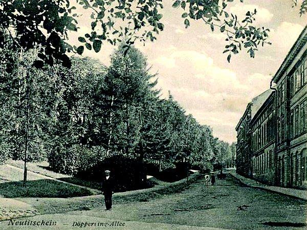 Dolní část ulice Tyršova vNovém Jičíně.
