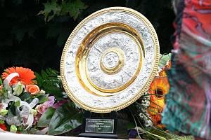 Bude mít Petra Kvitová ve svém rodišti síň slávy? Připomínáme její triumfální návrat z Wimbledonu v roce 2011 a zatím ojedinělou výstavu jejích trofejí ve Fulneku v roce 2015. Foto: Ivan Pavelek a Simona Mikšová