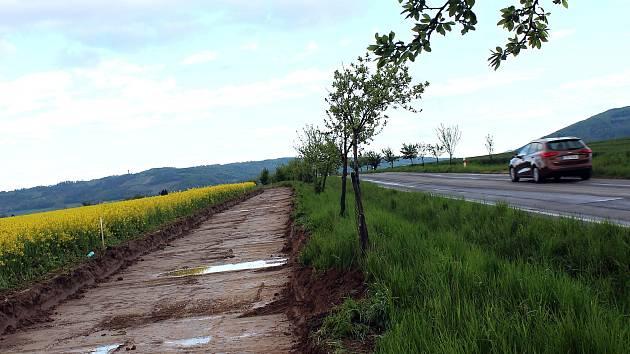 Práce na Cyklostezce Jeseník nad Odrou už začaly.