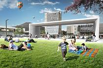 Vizualizace odhaluje budoucí podobu kopřivnického centra.