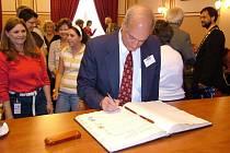 Robert Doubek slíbil, že socha prezidenta Wilsona se vrátí do Prahy.