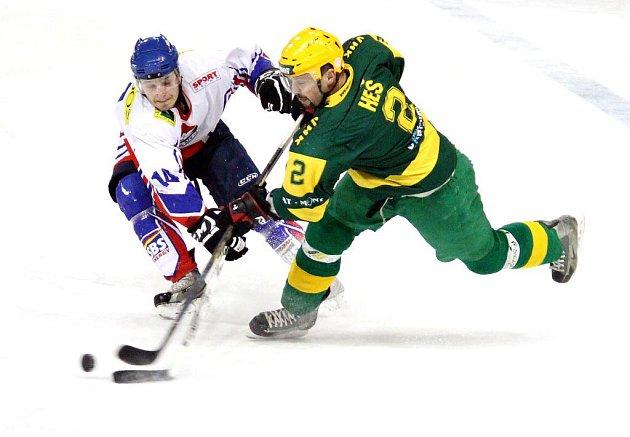Hokejisté Nového Jičína doma podlehli Vsetínu.