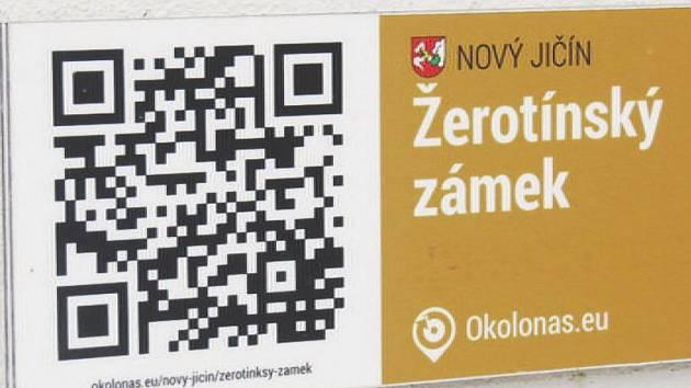 QR kód najdou turisté například na Žerotínském zámku.