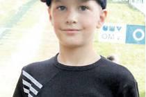 Celkový vítěz Beskydského turné 2012 v kategorii nejmladších žáků Petr Vaverka z TJ Frenštát pod Radhoštěm.