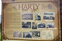 Připomínka zaniklých Hartů je v Petřvaldě, kde je po nich pojmenovaná jedna část obce a kam byl přemístěn také kamenný kříž.