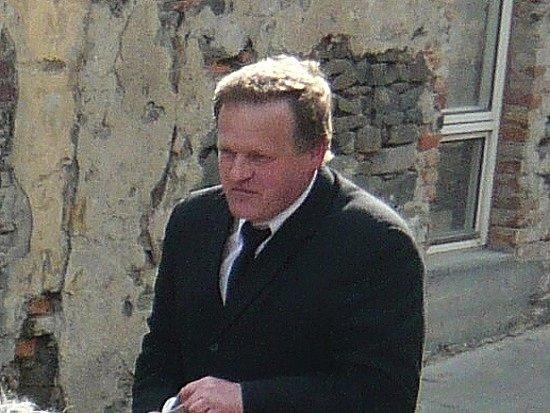 Václav David při Jízdě okolo osení.