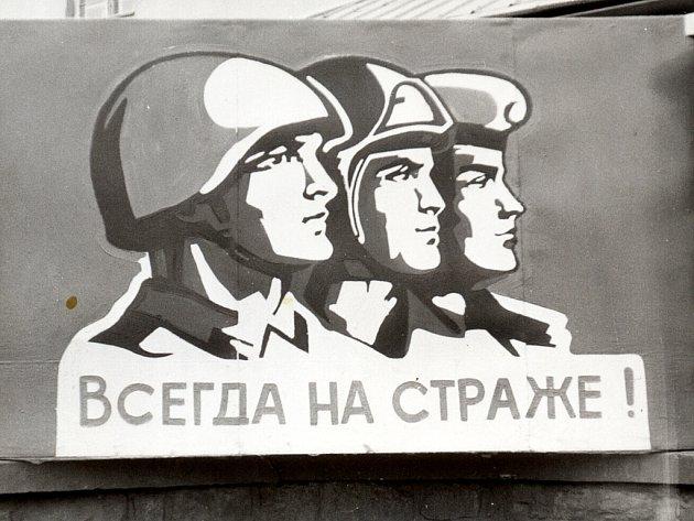 Vždy na stráži!!! Ve Frenštátě pod Radhoštěm Sověti hlídali, aby se náhodou neprojevila svoboda myšlení, více než dvacet let.