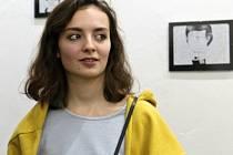 Studentka oboru grafický design hodonínské Střední školy průmyslové a umělecké vystavuje v nové galerii Div.oka.