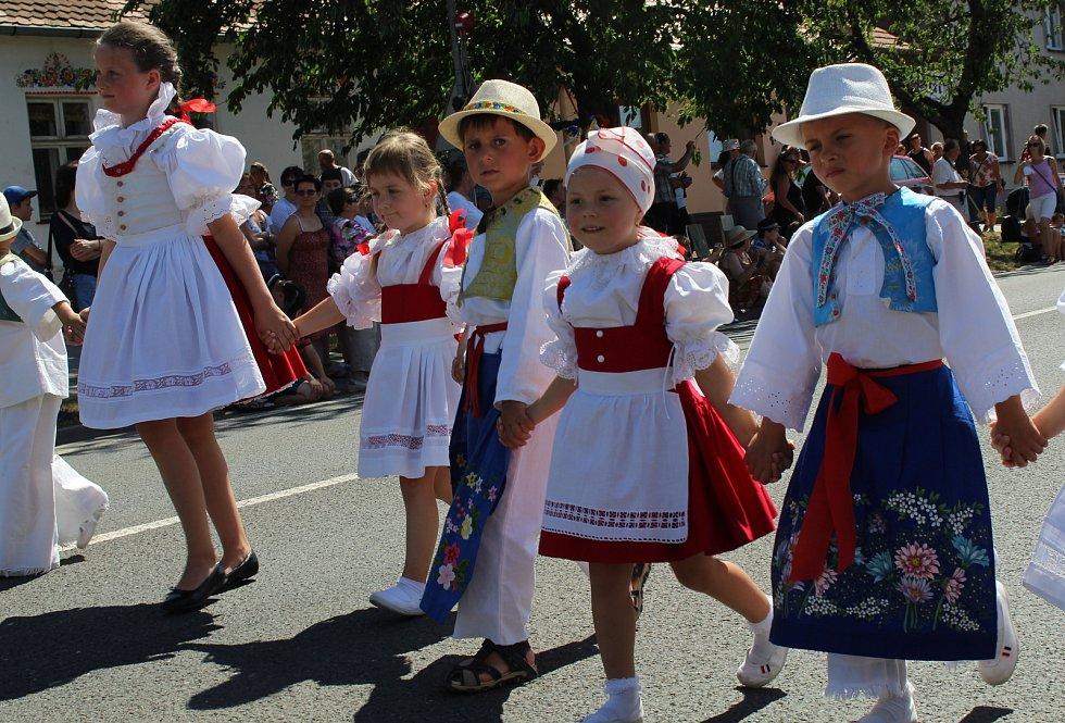 Mezinárodní folklorní festival Strážnice 2017, průvod městem.
