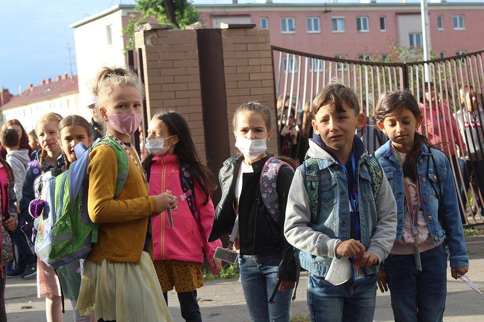 První září 2021 na Základní škole U Červených domků v Hodoníně.