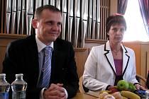 Ministr dopravy Vít Bárta navštívil Hodonín.