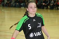Slovenská křídelnice Laura Kováčiková (na snímku) dohrávala nedělní duel v Havlíčkově Brodě s naraženým kolenem.