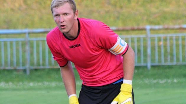 Brankář FC Veselí nad Moravou Michal Motyčka (na snímku) v zápase proti Dubňanům neinkasoval. Domácí v 7. kole 1. A třídy vyhráli 2:0.