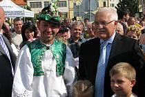 Prezident Václav Klaus ve Strážnici.