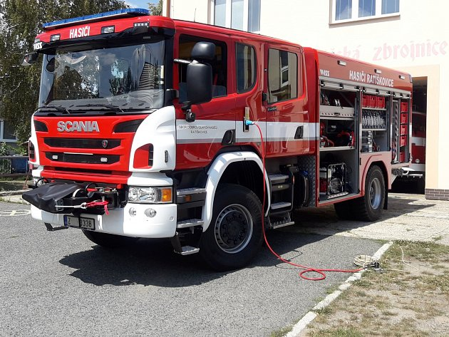 Nový zásahový vůz ratíškovických hasičů.