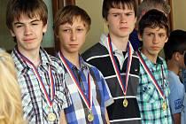 Mezi oceněnými sportovci města Kyjova za rok 2012 byli i mladí basketbalisté (na snímku).