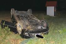 Páteční nehoda na silnici mezi Prušánkami a Moravským Žižkovem.