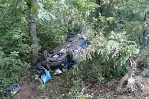 Vážně vypadající dopravní nehoda se stala v sobotu před polednem u Strážovic.