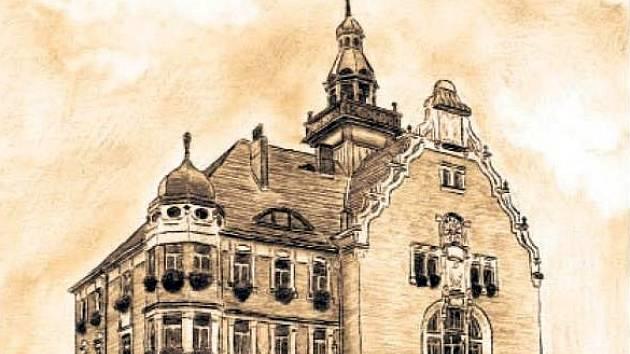 Titulní strana hodonínského kalendáře pro rok 2014. Na snímku byla radnice.