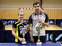 Trojnásobní vítězové MM ČR akademiků ve stolním tenisu, čeští reprezentanti Tamara Tomanová (TTC Rodinghausen) a Ondřej Bajger (1.TSV Mainz).