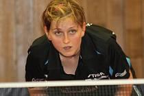 Hodonínská stolní tenistka Lenka Harabaszová.