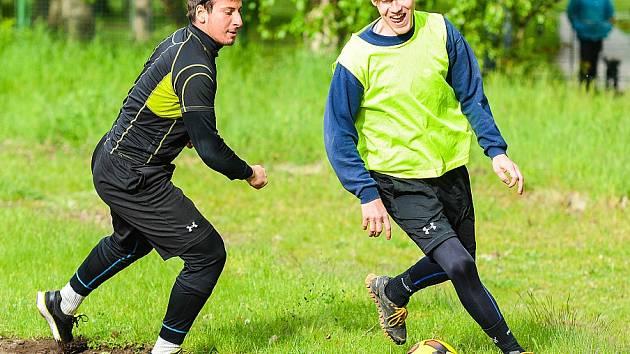 Hokejisté Hodonína se připravují na další sezonu. Úvodní trénink absolvoval i útočník Jakub Sajdl (vlevo), který patří k oporám mužstva.