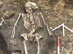 Keltský hrob na rousínovském náměstí