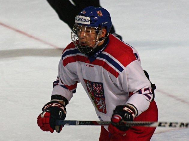 Hodonínský odchovanec Radek Kučeřík (dres číslo 12) reprezentuje Českou republiku na turnaji čtyř zemí hráčů do šestnácti let.