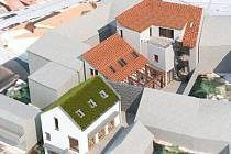 Vizualizace Domu přírody Bílých Karpat ve Veselí nad Moravou.