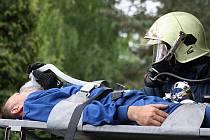 Devět jednotek hasičů, zdravotníci a policisté zasahovali u cvičného požáru v hodonínské nemocnici.