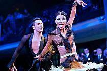 Hodonínským tanečníkům se na předcházejících akcích dařilo. Václav Masaryk s Klárou Chovančíkovou (na snímku) uspěli ve španělském Cambrils.