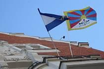 Na hodonínské radnice letos tibetská vlajka nezavlaje.