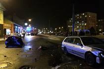 Nehoda aut ve Veselí: pět zraněných.