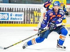 Zkušený hodonínský útočník Martin Špok (na snímku) soupeře pro čtvrtfinále druholigového play off zatím neřeší.