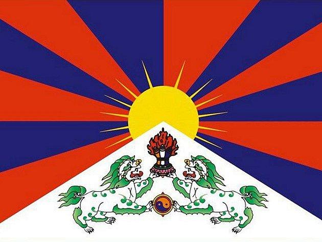 Tibetská vlajka - ilustrační fotografie.