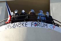 Den otevřených dveří v základní škole v Hovoranech u příležitosti třicátého výročí sametové revoluce.