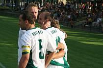 Krajský pohár: Dubňany (v bílém) vs. Ratíškovice