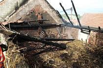 Požár vinného sklepa v Čejkovicích.