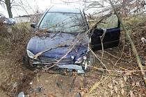 Nehoda na silnici mezi Archlebovem a Strážovicemi.