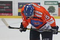 Hodonínský útočník Martin Špok smutní, Drtiči prohráli na ledě Moravských Budějovic 0:3. Ke gólu a bodům hostům nestačilo ani dvaačtyřicet střel.